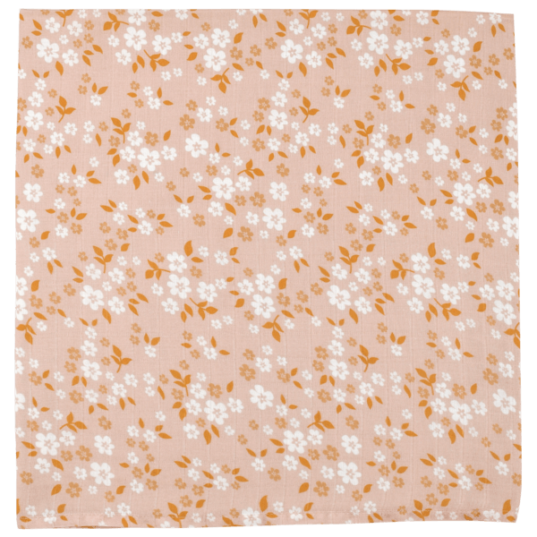 Peach Whimsy Floral Swaddle Blanket - Project Nursery