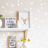 Tiny Hand Drawn Dots White - The Project Nursery Shop - 9