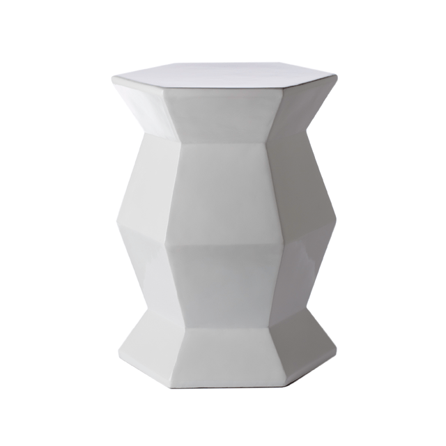 Hex Accent Table in White  - The Project Nursery Shop