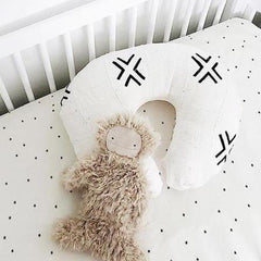 Mud Cloth Nursing Pillow Cover - White + Black - Project Nursery
