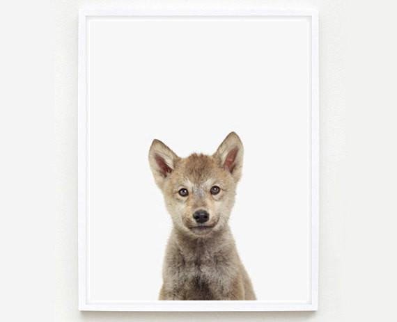 Wolf Cub Little Darling Print - Project Nursery