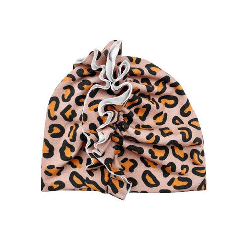 Leopard Frilly Cap - Project Nursery