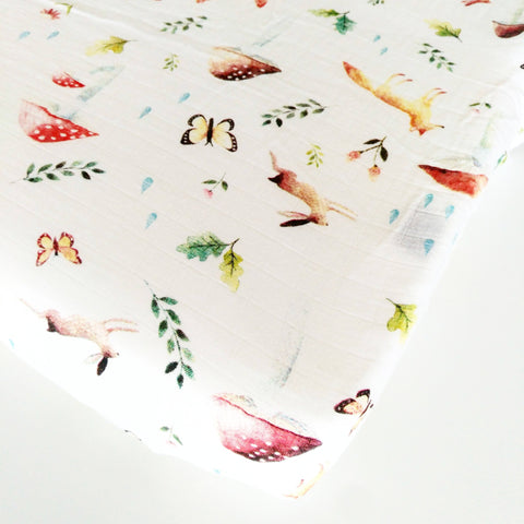 Dino Friends Percale Crib Sheet