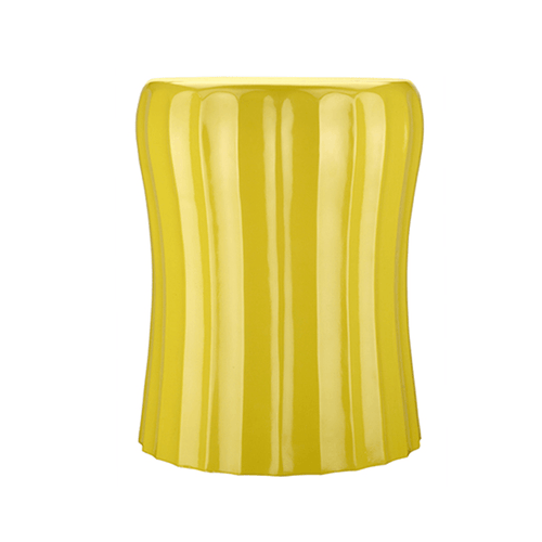 Wave Accent Table In Yellow
