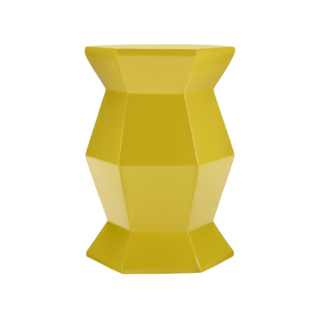 Hex Accent Table in Yellow  - The Project Nursery Shop