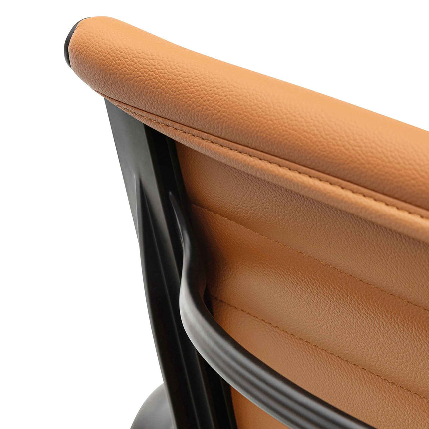 COC6403-YS Low Back Office Chair - Saddle Tan in Black Frame