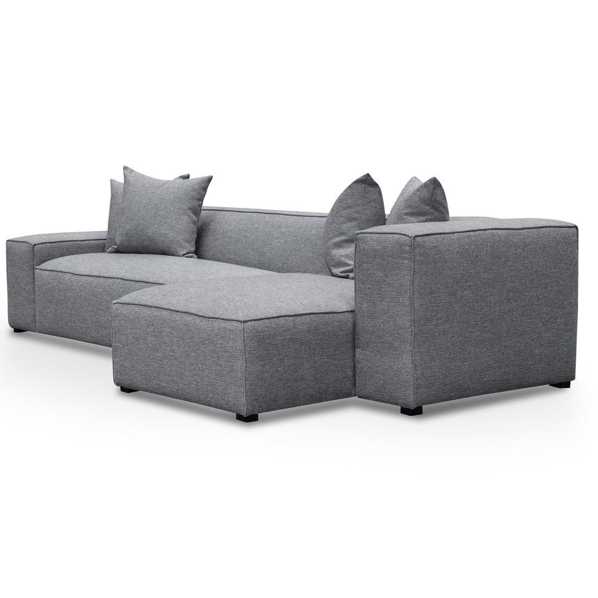 CLC2851-CA 3 Seater Right Chaise Sofa - Graphite Grey