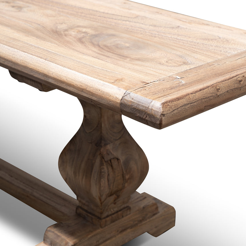 CDB2931 - Reclaimed ELM 2.4m Wood Bench - Natural