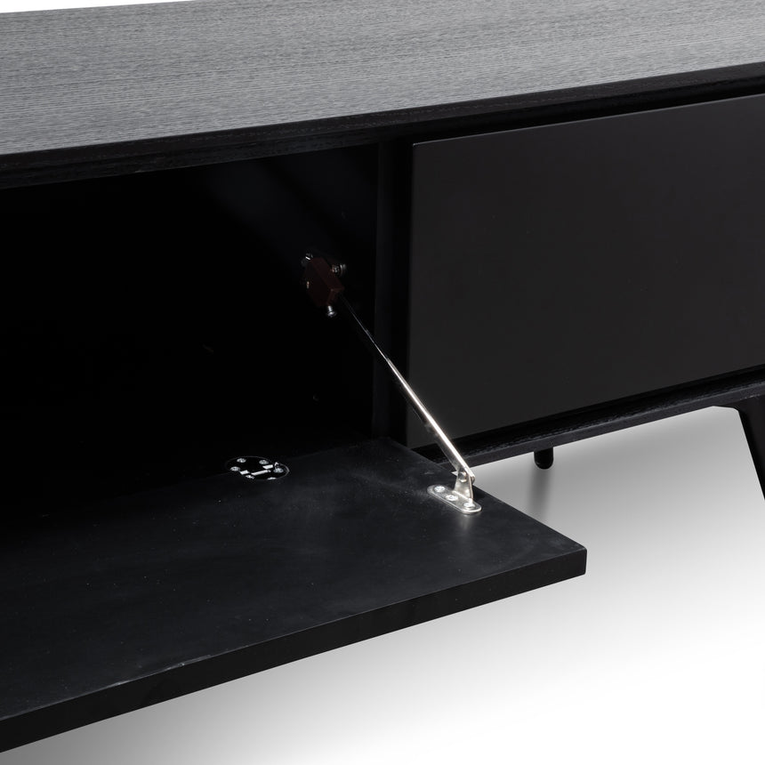 CTV2785-DW - TV Unit With Black Matte Drawers - Black
