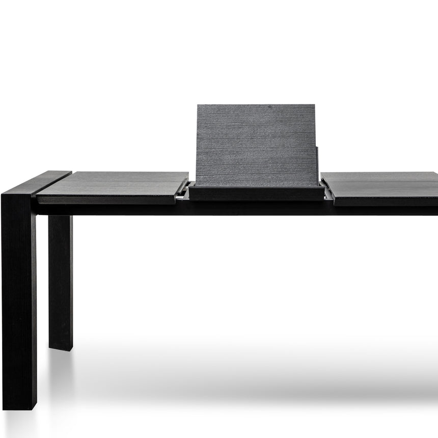 CDT2786-DW 2.1M-3.5M Extendable MDF Dining Table - Black