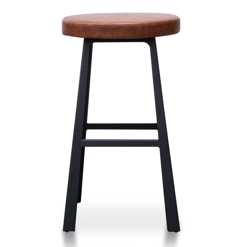 CBS2990-SU 65cm Bar Stool in Rustic Brown - Black Legs