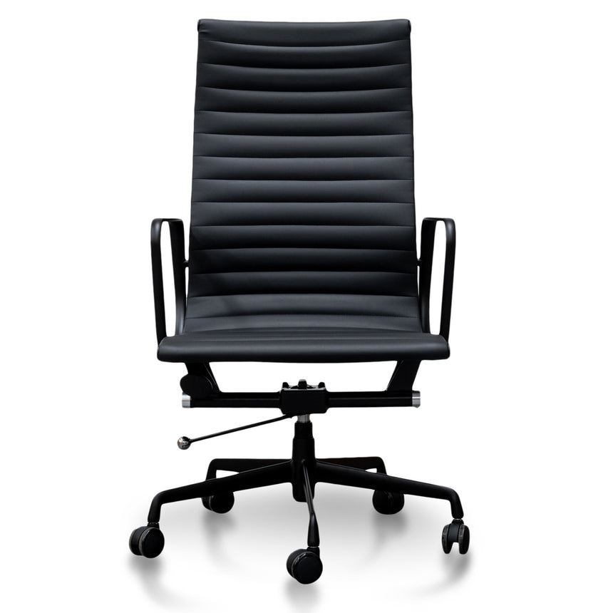 OC2151-UN-HD2155-UN Ergonomic Leather Office Chair With Head Rest - Black