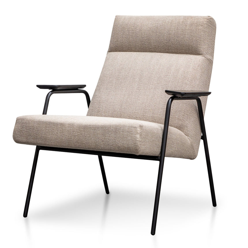 CLC2987-SU Fabric Armchair in Sand Grey - Black