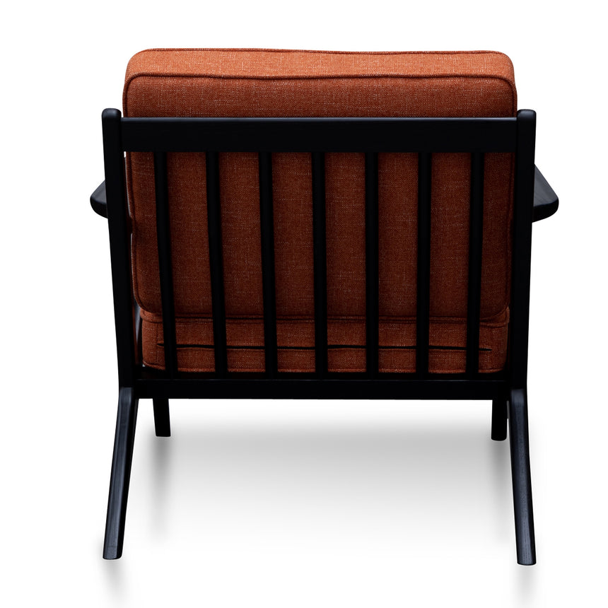 CLC2989-SU Fabric Armchair - Rust Brown with Black Legs