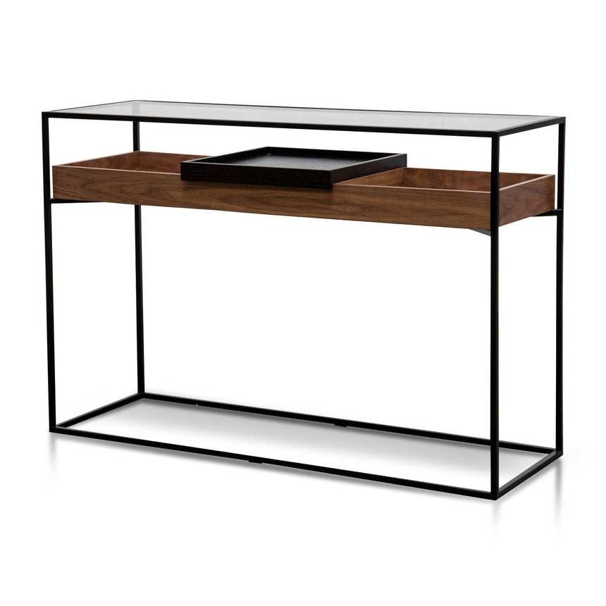 CTV6050-KD 1.5m  Entertainment TV Unit - Walnut - Black legs