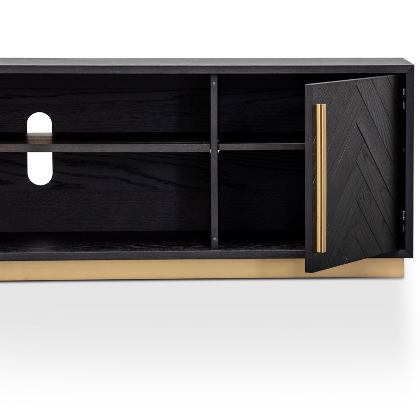 CTV2807-VN Entertainment TV Unit - Black and Brass