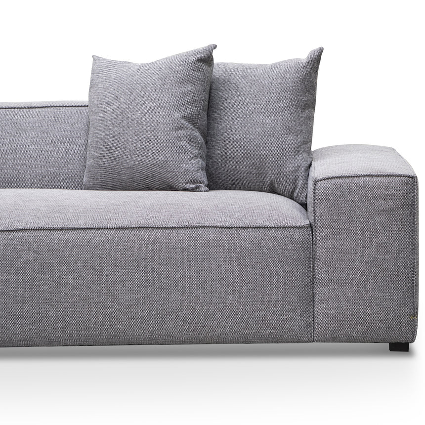 CLC2850-CA 2 Seater Left Chaise Sofa - Graphite Grey