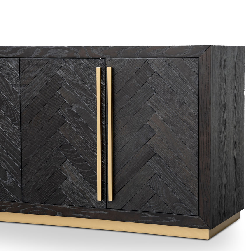 CDT2806-VN Wide Sideboard - Black and Brass
