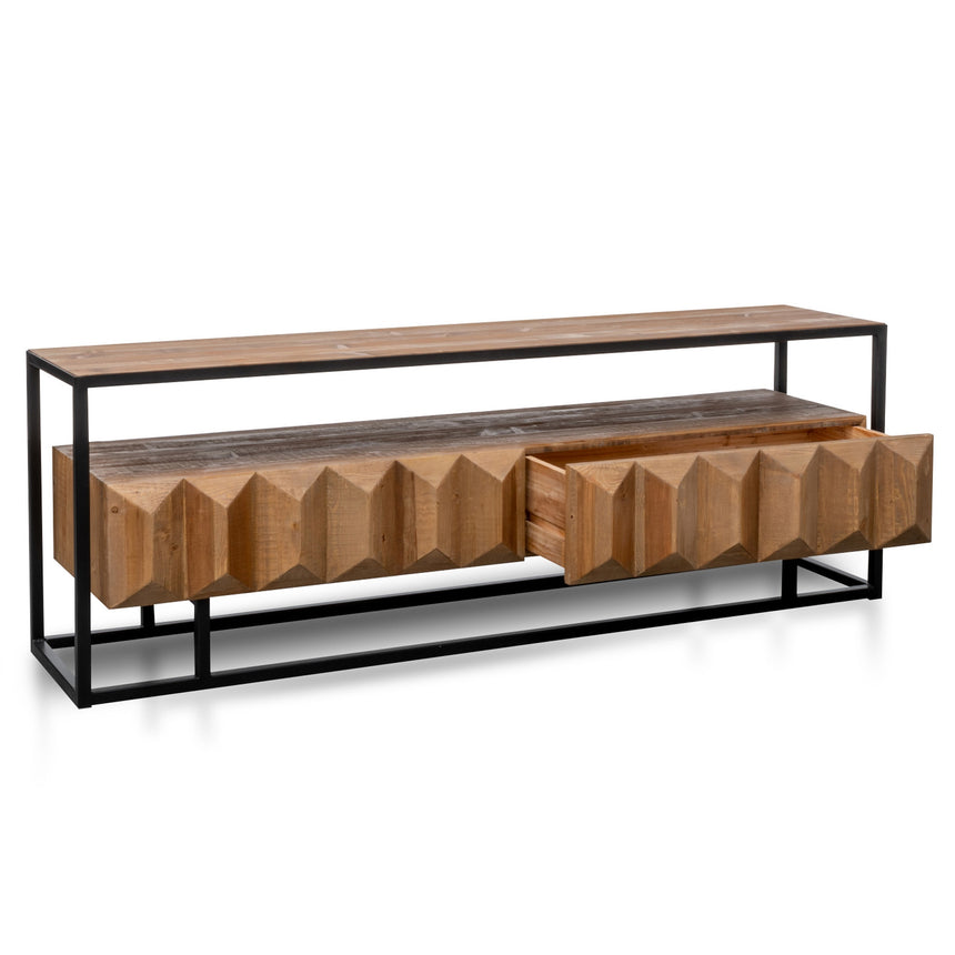 CTV2925-NI 1.8m Entertainment TV Unit - Natural with Black Frame