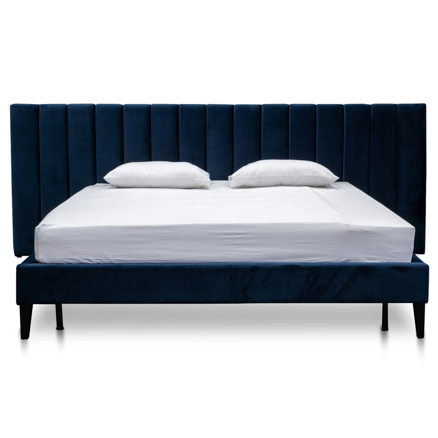 CBD2779-MI King Bed Frame - Navy Velvet
