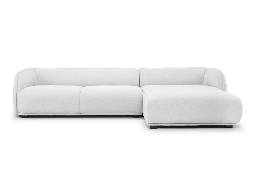 CLC724 3 SEATER RIGHT CHAISE SOFA - LIGHT TEXTURE GREY