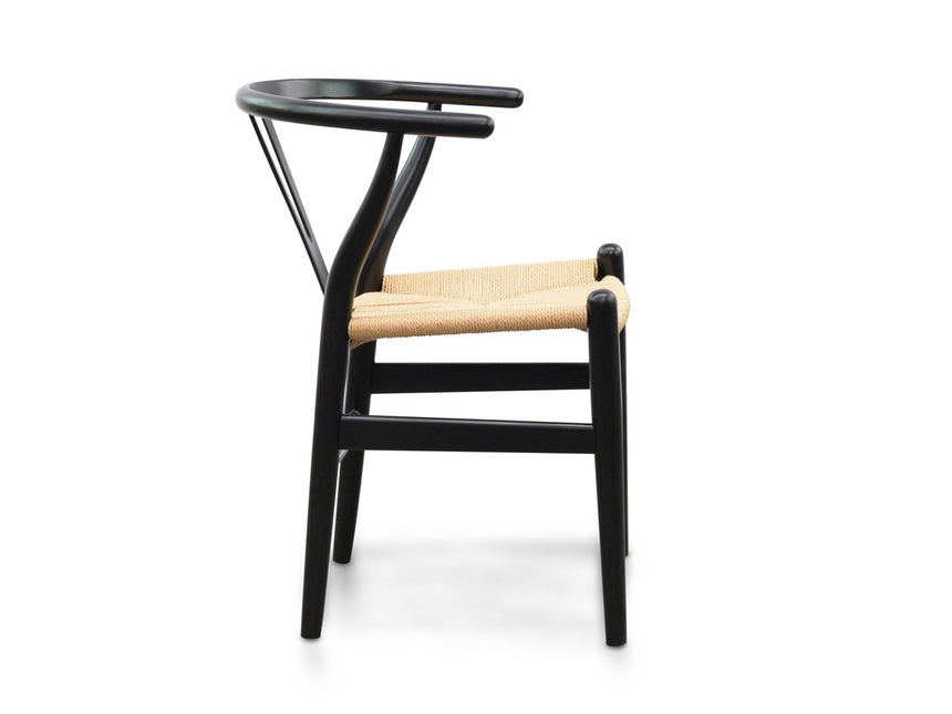 CDC125BLK-SD Dining Chair - Black - Natural Seat