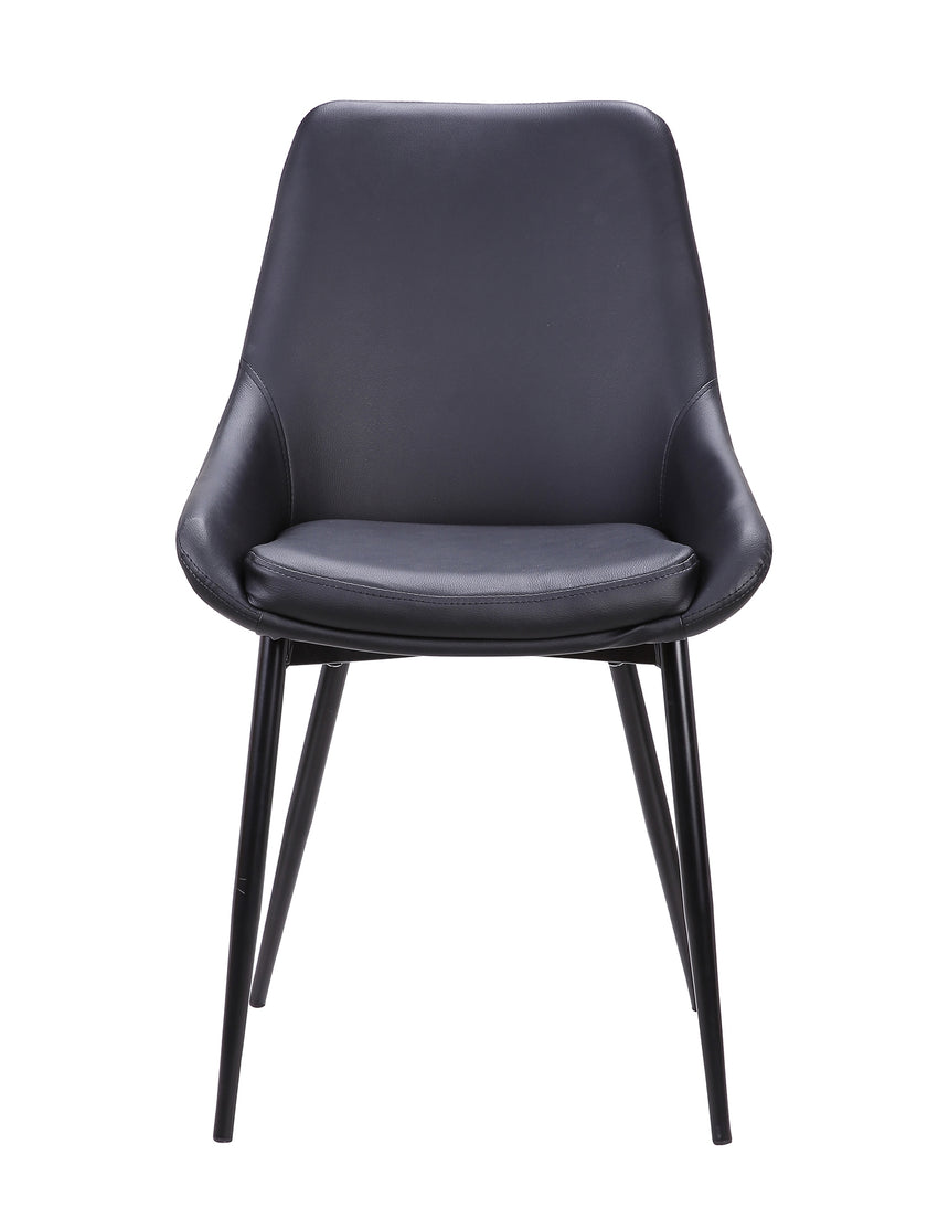 CDC2003-SE - Dining Chair - Black PU (Set of 2)