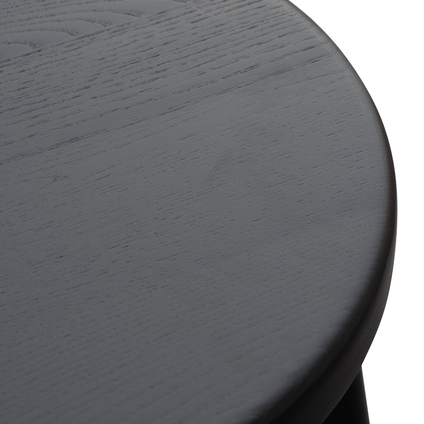 CBS2941-NH 46cm Wooden Seat Low Stool - Full Black
