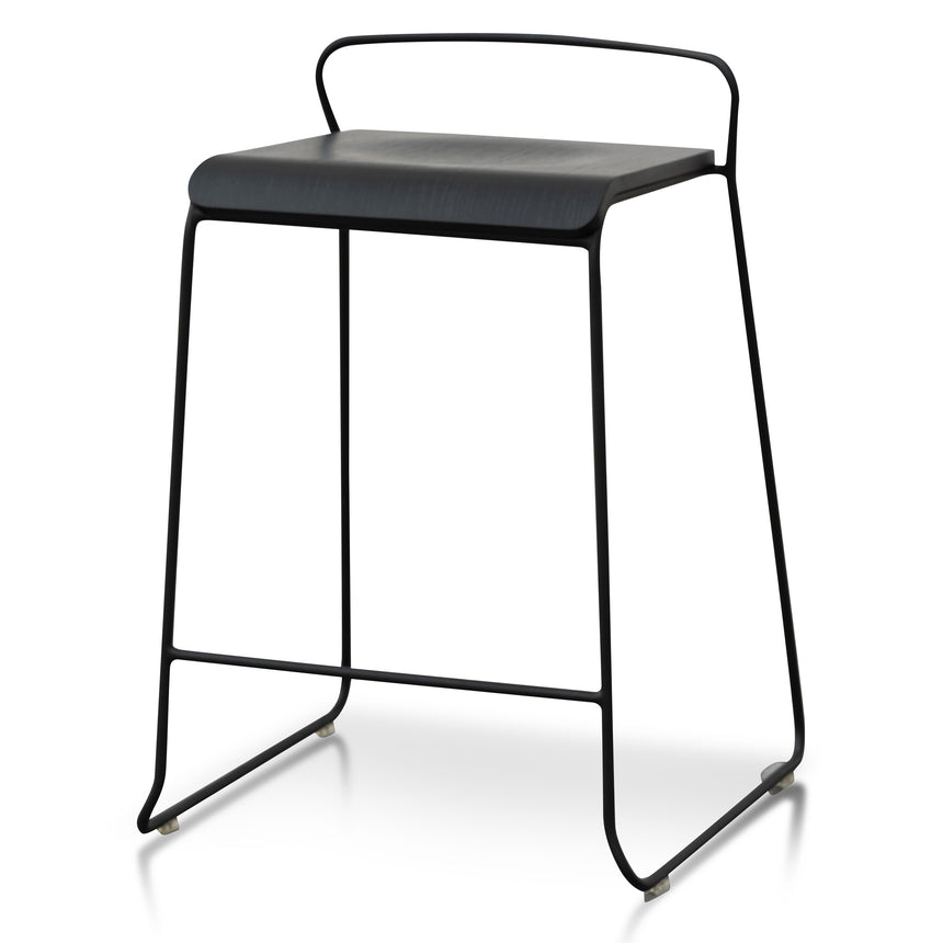 CBS2942-NH 65cm Wooden Seat Bar Stool - Black
