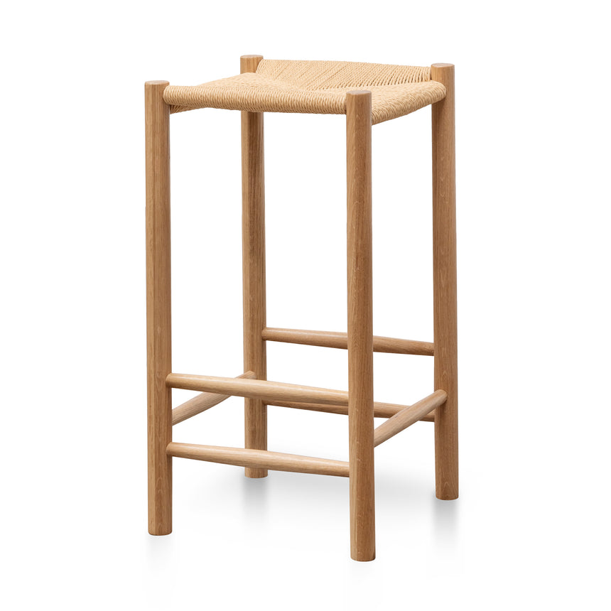 CBS2977-OW 65cm Oak Bar Stool - Natural