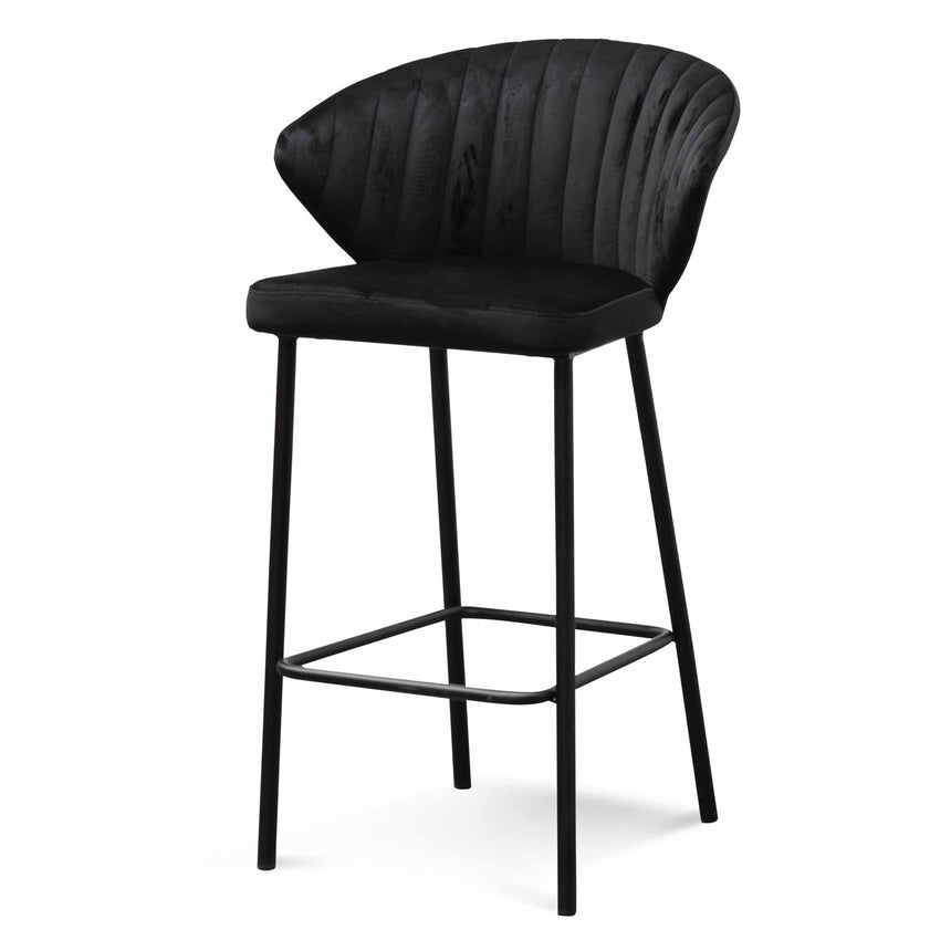 CBS6449-DW 65cm Bar Stool - Black Velvet