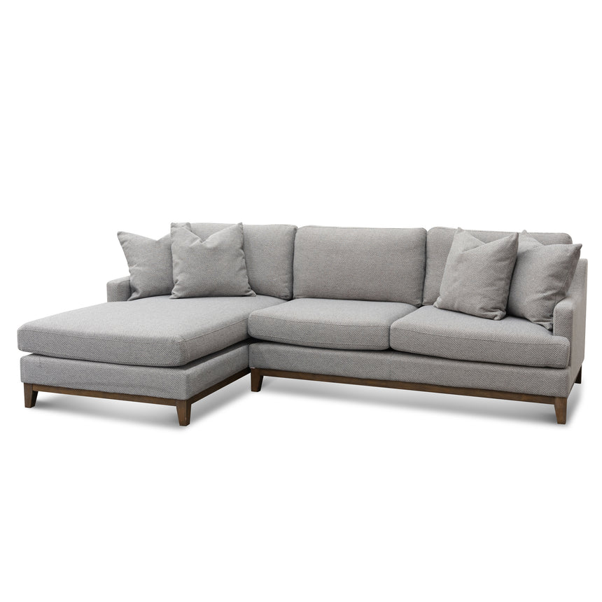 CLC6267-CA 3 Seater Left Chaise Fabric Sofa - Grey