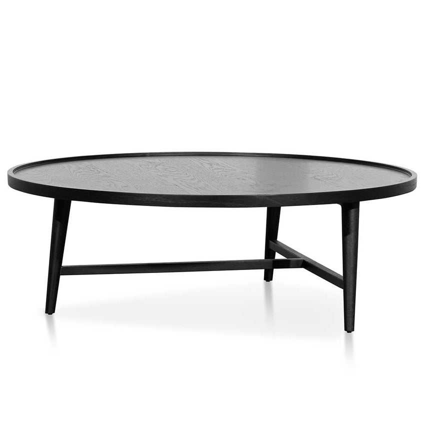 CCF6421-CN 1.1m Wooden Round Coffee Table - Black