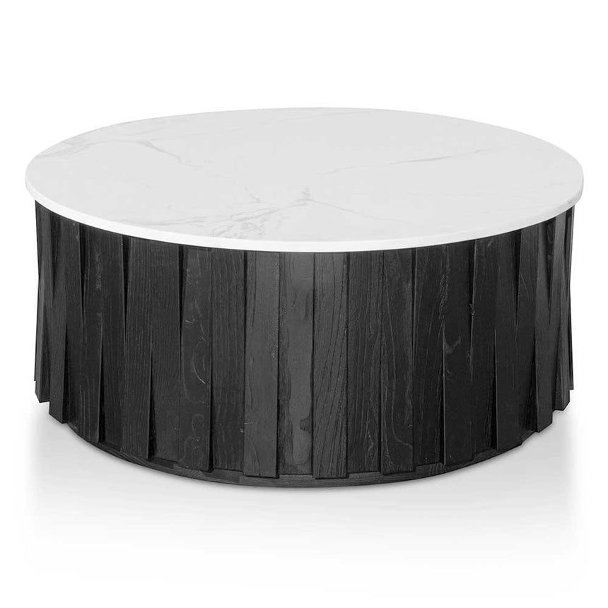 CCF6478-NI Round marble Coffee Table - Black