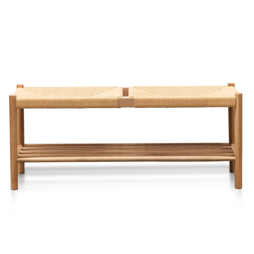 CDB2974-OW 110cm Oak Bench - Natural Seat