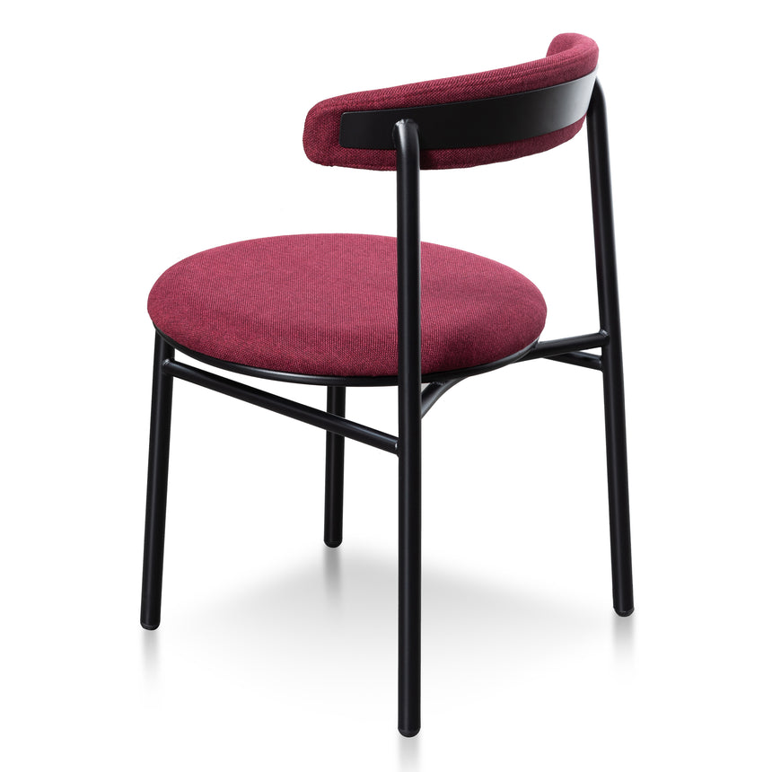 CDC6032-SD Fabric Dining Chair - Burgundy with Black Legs