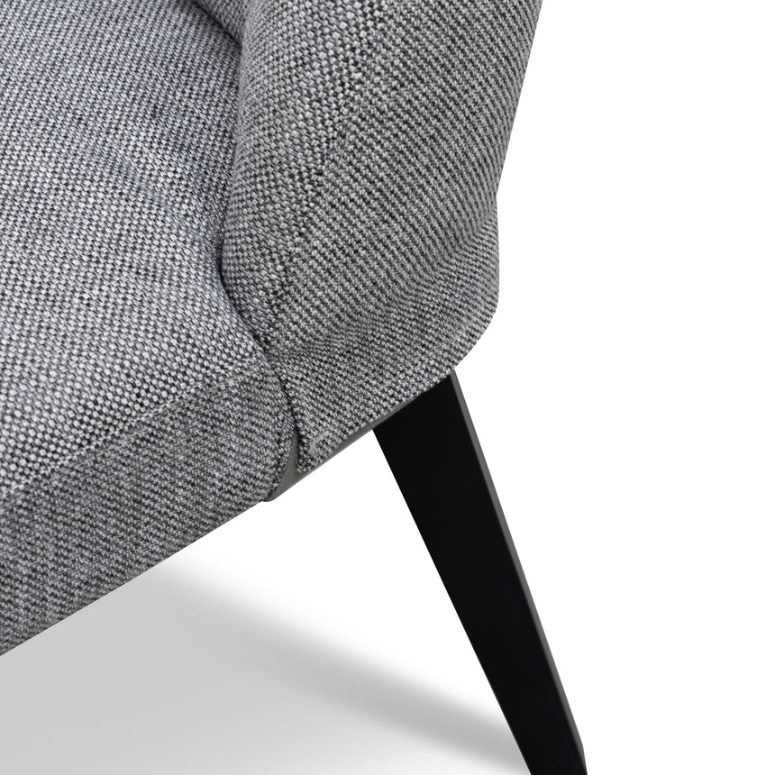 DC6098-KSO Fabric Dining Chair - Oslo Grey - Black Legs