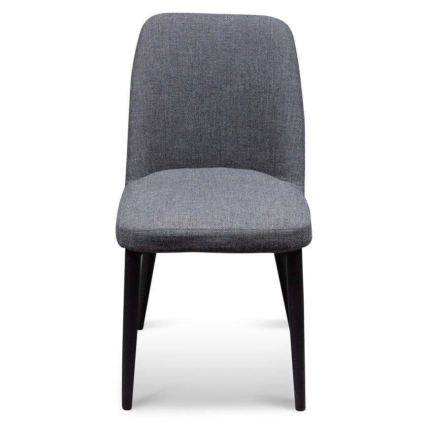 CDC6124-ST Fabric Dining Chair - Dark Grey with Black Legs