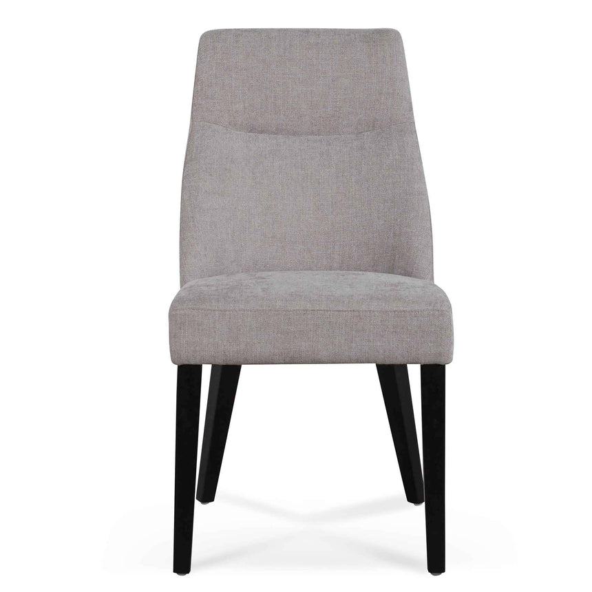 CDC6432-KSO Fabric Dining Chair - Oyster Beige - Black Legs