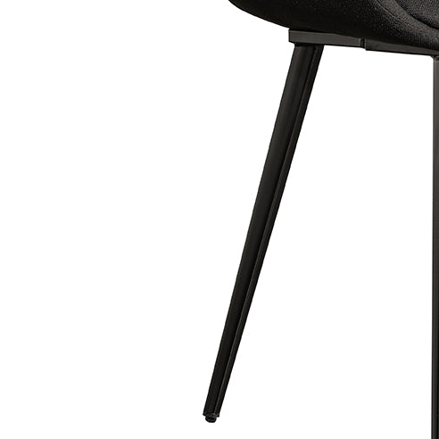 CDC6443-SE Fabric Dining Chair – Black (Set of 2)