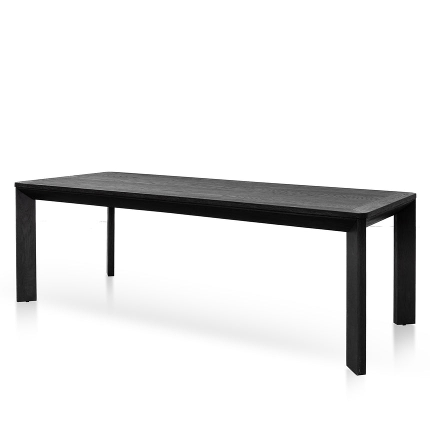 CDT6078-CH 2.4m Wooden Dining Table - Full Black