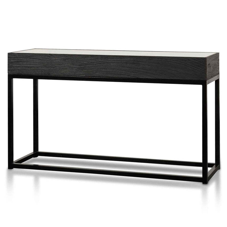 CDT6307-NI 1.39m Reclaimed Console Table - Full Black