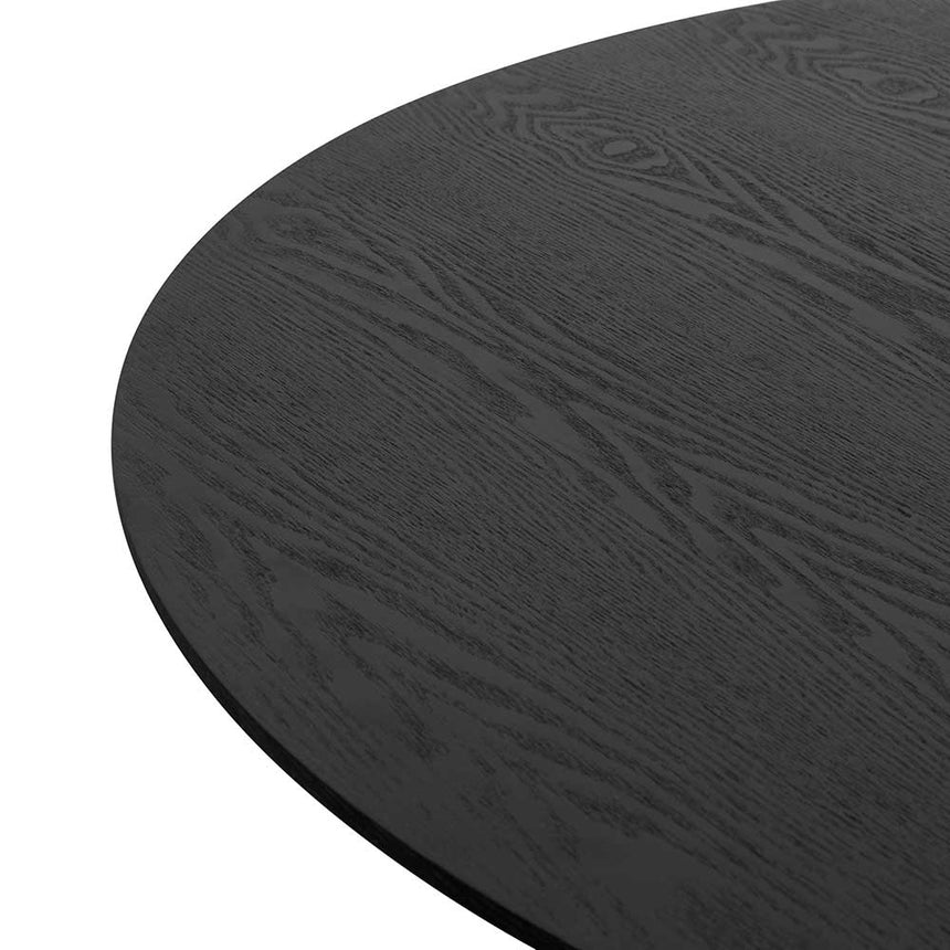 CDT6360-DW 1.2m Round Wooden Dining Table - Black