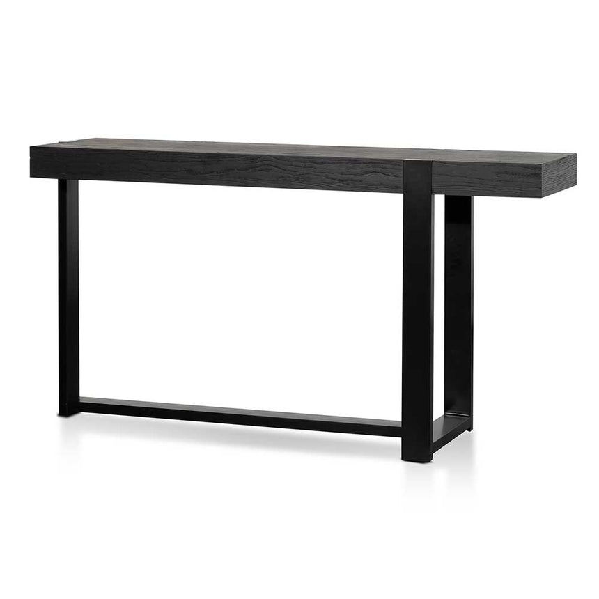 CDT6479-NI 1.5m Wooden Console Table - Full Black