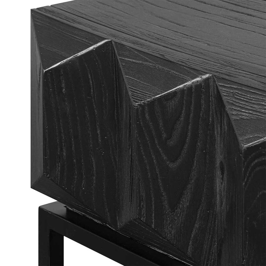 CDT6481-NI 140cm Wooden Console Table - Full Black