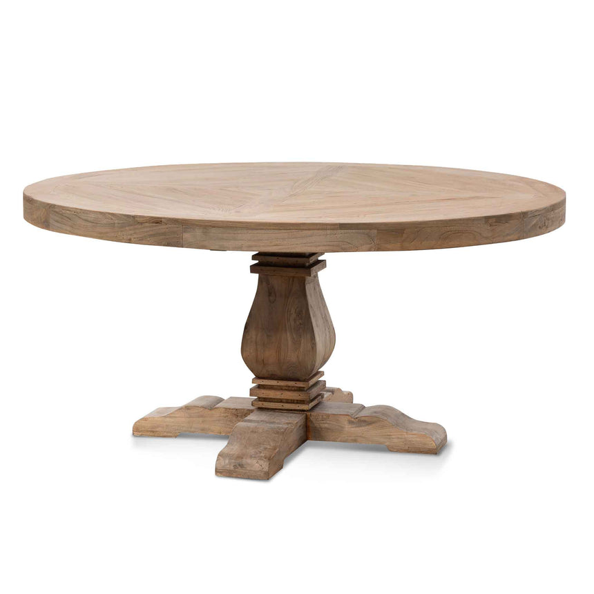 CDT6562 1.6m Round Dining Table - Natural Top - Natural Base