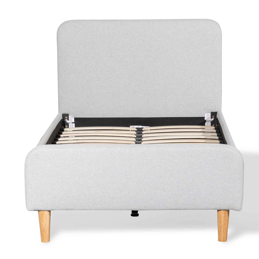 CBD6354-YO Fabric Single Bed Frame - Rhino Grey