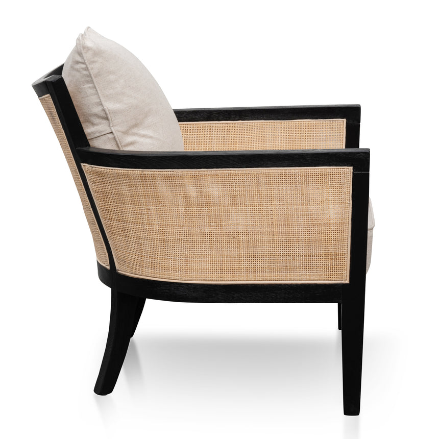 CLC6072-CH Rattan Armchair - Black and Sand White