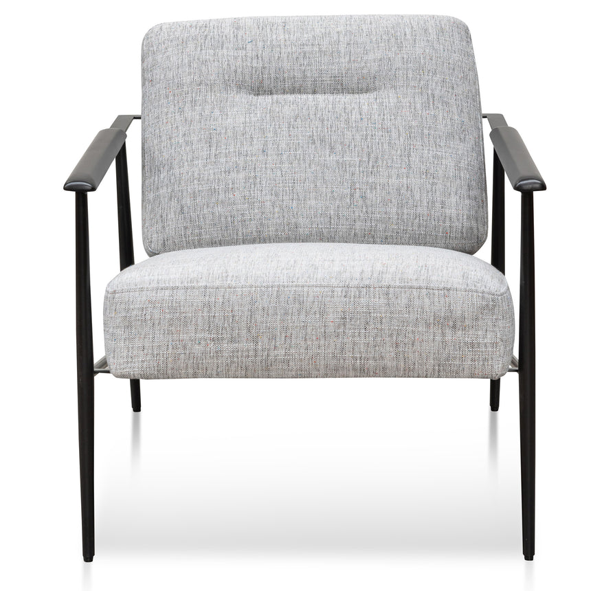 CLC6102-IG Fabric Armchair - Light Spec Grey - Black Legs