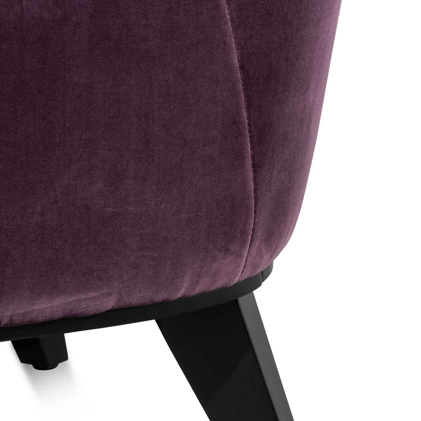 CLC6262-KSO Velvet Lounge chair - Dark Purple